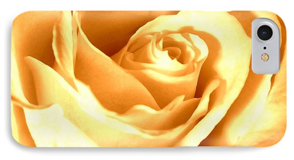 IPhone Case featuring the photograph Golden Yellow Rose by Janine Riley