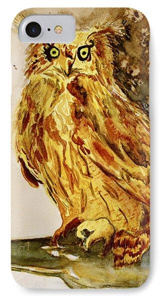 Goldene Bier Eule Phone Case by Beverley Harper Tinsley