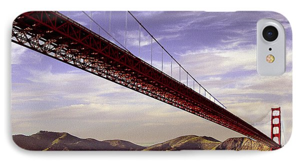 Goldengate Bridge San Francisco IPhone Case by Bob and Nadine Johnston