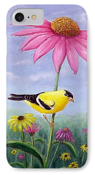 Goldfinch And Coneflowers IPhone Case by Fran Brooks