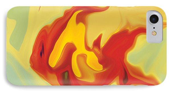 IPhone Case featuring the digital art Goldfish 2 by Rabi Khan