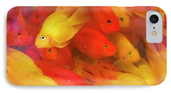 Goldfish At Goldfish Market, Hong Kong IPhone 7 Case by Peter Adams