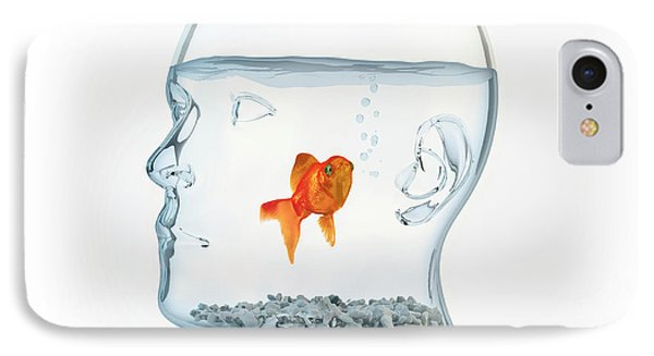 Goldfish In A Bowl IPhone Case by Andrzej Wojcicki