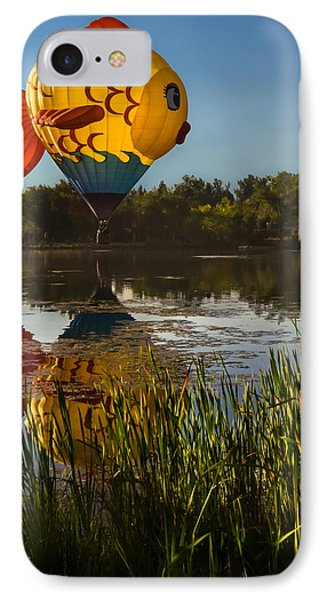 Goldfish Reflection IPhone Case by Linda Villers