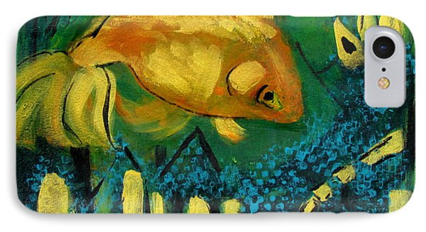 Goldfish Set To Go Rogue IPhone Case by Betty Pieper