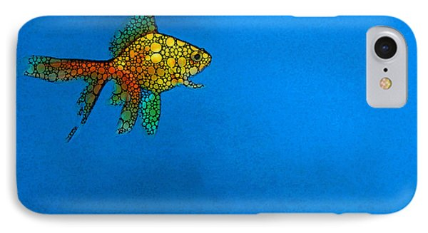 Goldfish Study 4 - Stone Rock'd Art By Sharon Cummings Phone Case by Sharon Cummings