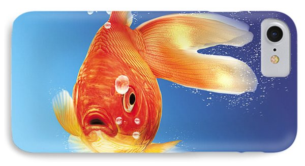 Goldfish With Water Bubbles IPhone Case