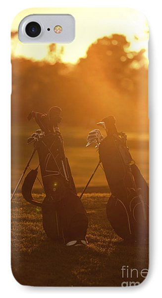 Golf Bags At Sunset IPhone Case by Diane Diederich