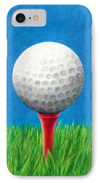 Golf Ball And Tee IPhone Case by Janice Dunbar