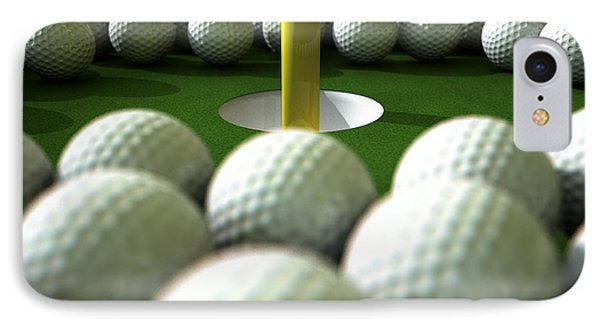 Golf Ball Hole Assault Phone Case by Allan Swart