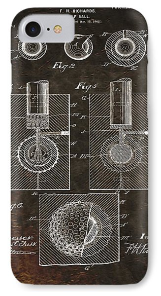 Golf Ball Patent On Leather IPhone Case