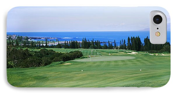 Golf Course At The Oceanside, Kapalua IPhone Case by Panoramic Images