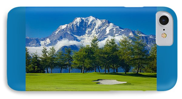 Golf Course In The Mountains - Riederalp Swiss Alps Switzerland IPhone Case by Matthias Hauser