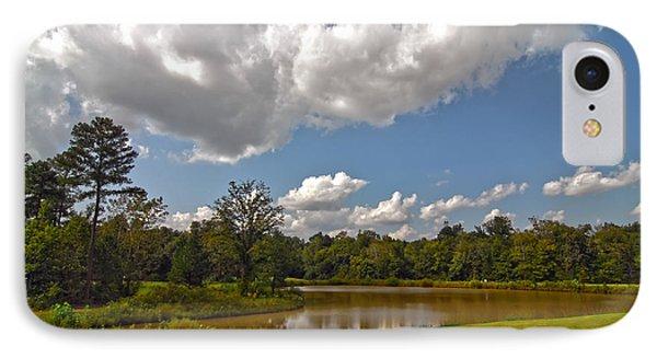 IPhone Case featuring the photograph Golf Course Landscape by Alex Grichenko
