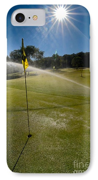 Golf Course Sprinkler On Sunny Day Phone Case by Amy Cicconi