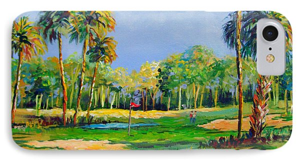Golf In The Tropics IPhone Case by Lou Ann Bagnall