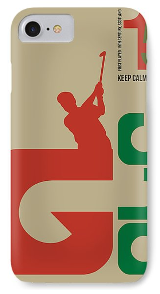 Golf Poster IPhone Case