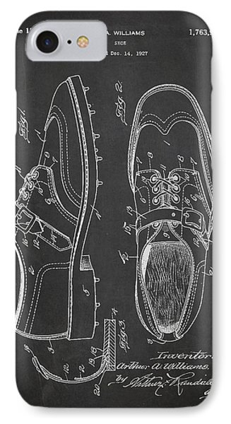 Golf Shoe Patent Drawing From 1927 Phone Case by Aged Pixel