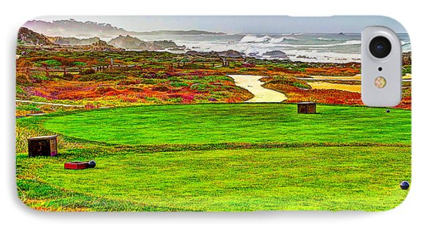 Golf Tee At Spyglass Hill Phone Case by Jim Carrell