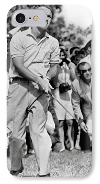 Golfer Arnold Palmer IPhone Case by Underwood Archives