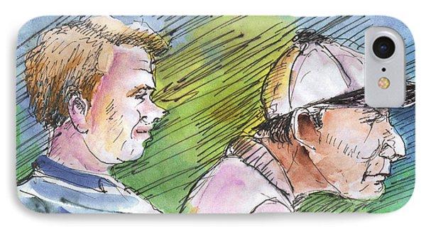 Golfers In Soufflenheim 01 Phone Case by Miki De Goodaboom