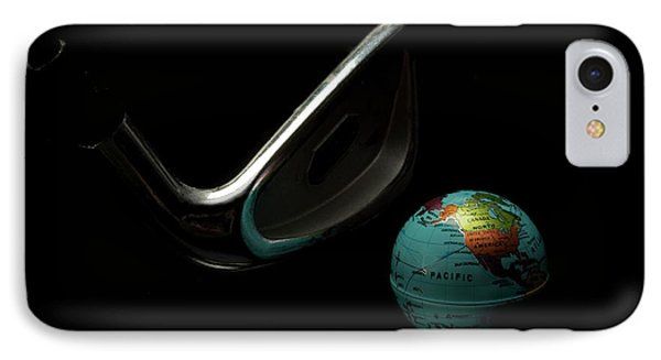 Golfing The World IPhone Case by Linda Matlow