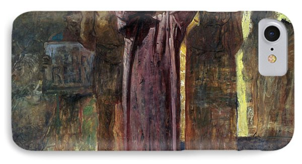 Golgotha, 1892-93 Oil On Canvas IPhone Case by Ge