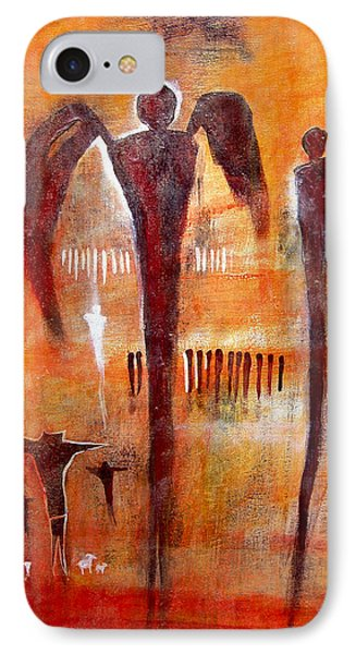 Golgotha Petroglyph Phone Case by Derrick Higgins