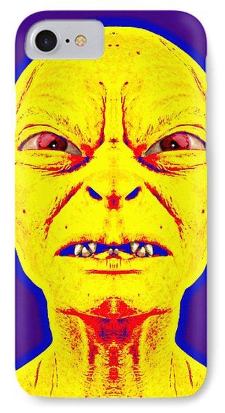 Gollum Alias In The Lord Of The Rings The Two Towers IPhone Case by Art Cinema Gallery