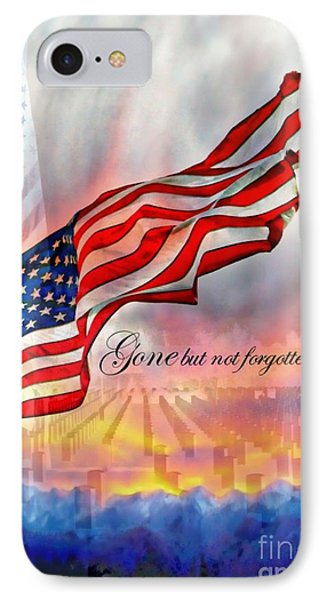 Gone But Not Forgotten Military Memorial Phone Case by Barbara Chichester