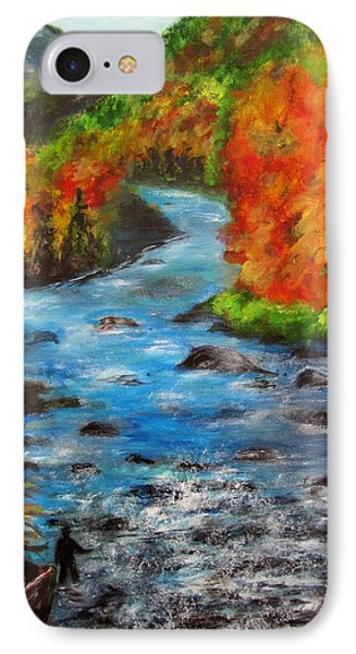 Gone Fishing In Ausable River IPhone Case