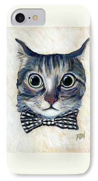 Good Boy Cat With A Checked Bowtie IPhone Case
