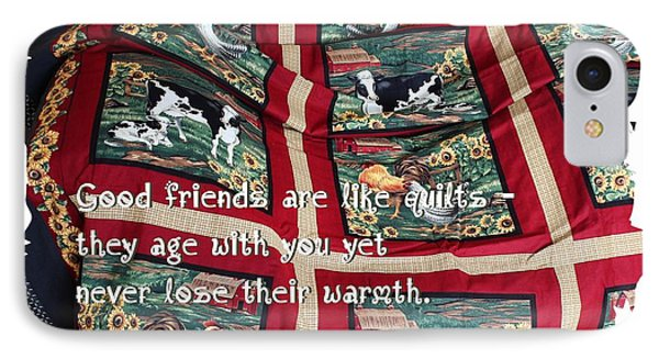 Good Friends Are Like Quilts IPhone Case