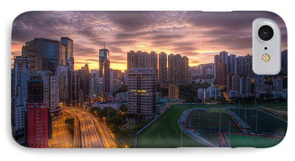 Good Morning Hong Kong IPhone Case by Mike Lee