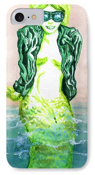 Good Morning Little Mermaid Phone Case by Del Gaizo