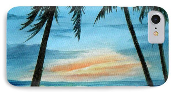 Good Morning Sunshine - Seascape Sunrise And Palm Trees By Rosie Brown Phone Case by Rosie Brown
