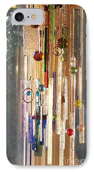 IPhone Case featuring the glass art Good Morning Sunshine - Sun Catcher by Jackie Mueller-Jones