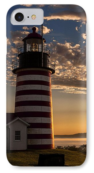Good Morning West Quoddy Head Lighthouse Phone Case by Marty Saccone