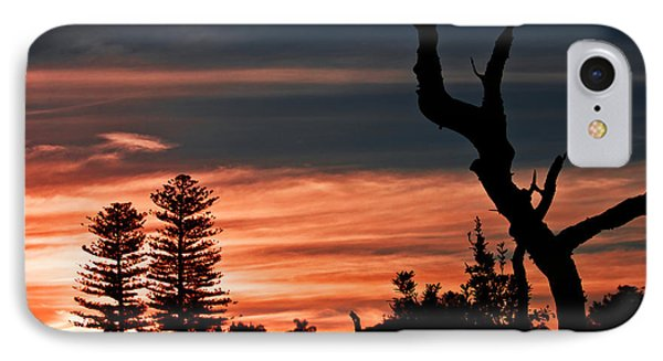 IPhone 7 Case featuring the photograph Good Night Trees by Miroslava Jurcik