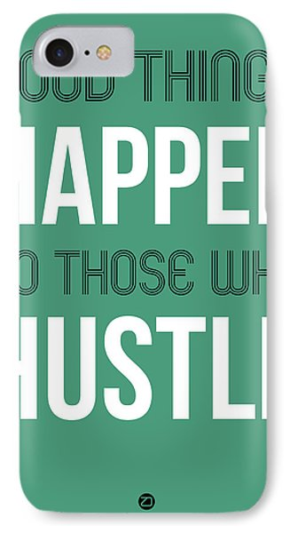 Good Thing Happen Poster Green IPhone Case