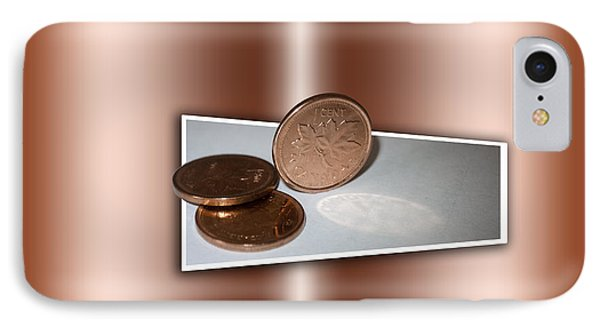 IPhone Case featuring the photograph Goodbye Canadian Penny by Pennie  McCracken