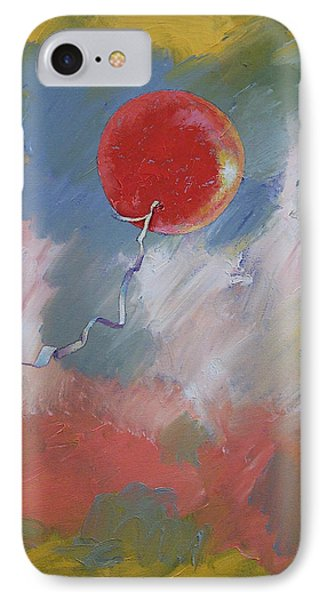 Goodbye Red Balloon IPhone Case by Michael Creese