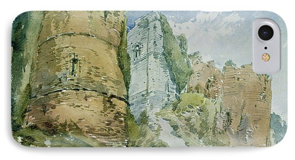 Goodrich Castle IPhone Case by William Callow