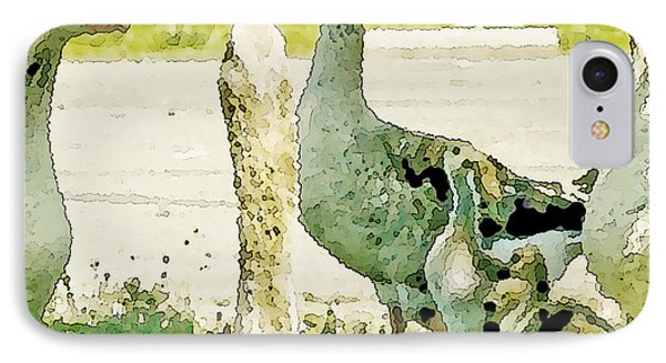 Goose Chat Phone Case by Artist and Photographer Laura Wrede