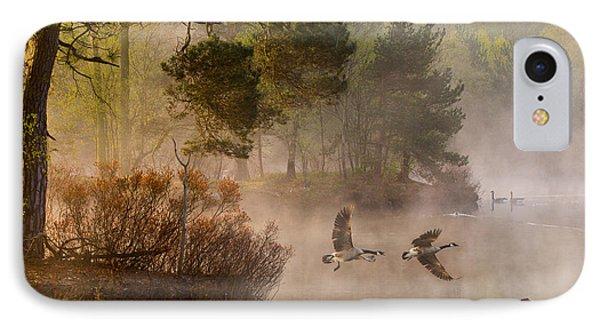 Geese iPhone 7 Case - Goose Fight by Anton Van Dongen