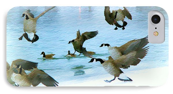 IPhone Case featuring the photograph Goose Hop by Kathy Bassett