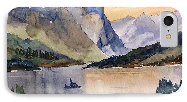 Goose Island Glacier National  Park IPhone Case by Larry Hamilton