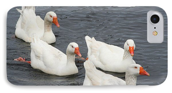 IPhone Case featuring the photograph Goose Parade by Bob and Jan Shriner