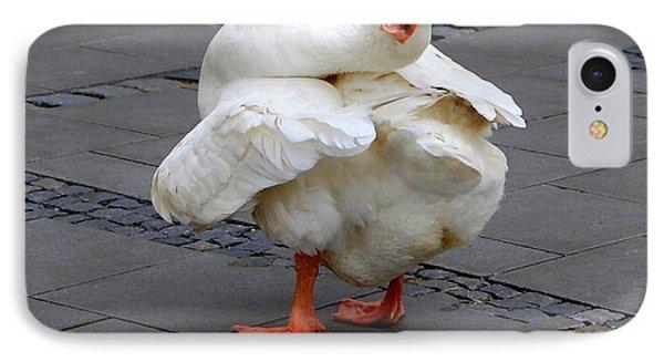 Goose Talk IPhone Case by Linda Prewer