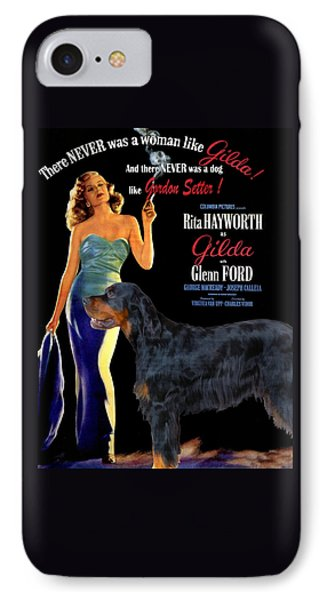 Gordon Setter Art Canvas Print - Gilda Movie Poster IPhone Case by Sandra Sij